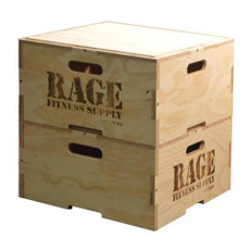 "Conveniently Stack & Store Plyo Boxes   Easily customize the intensity and style of your clients' workouts with a 12"" Wood Stackable Plyo Box by RAGE. Its revolutionary puzzle design is engineered to stack vertically and securely for beginner and advanced plyometric training from box jumps to agility and stamina drills. Conveniently stack and store the boxes when not in use to conserve space around your facility. Clients can feel confident jumping on this durable Baltic birch box. Included with the wooden RAGE Plyo Box are all the required hardware and pre-drilled holes for quick and easy assembly."