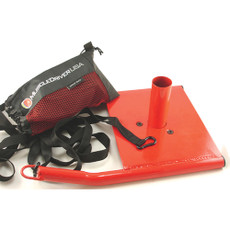 "Speed Sled Features  Comes with custom carrying bag for harness and nylon lead.  Nylon lead is 14' long, for a distance of 7'.  Size: 19 1/2"" x 13 1/2"" x 7 1/2"". Weight: 13 lbs.  Color: red. SPECS  Color: Red"