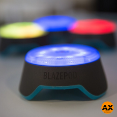 BlazePods are an interactive fitness training program comprised of touch sensors and a smartphone App. These axtion pods function as a personal or competitive fitness platform, tracking users performance, speed and reaction times. BlazePods can be used for HIIT (High Intensity Training), Sports performance, Small group training, Therapy & Rehab, Kids Fitness Programs.