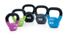Our Studio Kettlebells are made to sit comfortably in the hand so members can concentrate on their workout. Cast iron construction with a vinyl dip covering means these kettlebells will last longer, but studio floors will also be protected.