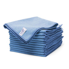 """Specifications Dimensions: 16"""" x 16"""" Weight: 320 GSM Denier: .1-.2 Material: 80% polyester / 20% polyamide Edges: Overlocking Color: Light blue"""