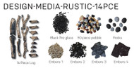 DESIGN-MEDIA RUSTIC 14 PCE