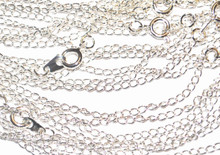 x100 Silver Plated Curb Chains - 18inch