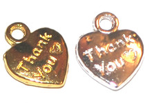 """Thank You"" Heart Charms"