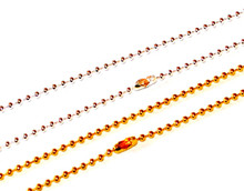 Plated Ball / Bead Chains - 2mm