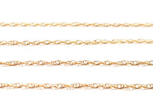 9ct Gold Prince of Wales Chain - 0.8mm