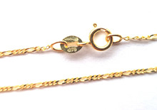 9ct Gold Figaro Chain - 1mm