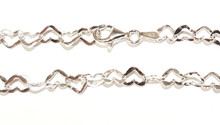 MCL060 - 5mm Heart Link Bracelet