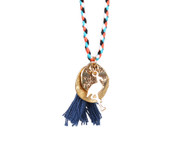 Flamingo necklace with tassel