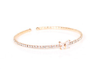 Butterfly crystal bangle (Golden)