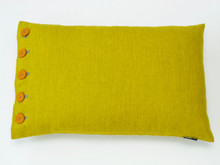 Fabulous Wattle toned marle wool cushion that will add colour anf happiness to any home. Classic 60 x 40cm cushion which is perfect for sofa or bed placement.  Comfortable feather infill.  All proudly made in Melbourne.