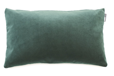 Deep dark jungle green makes this a beautiful addition to many interiors. Go green all they way with lots of shades of green. Put it with navy, neutral, charcoal, shades of pink. - anything really! Divine luxe velvet is perfect size of 50 x 30cm. Feather filled insert.