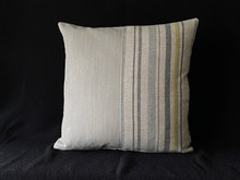 Top stitched panel cushion.