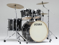 Tama Superstar Classic 5pc. Drum Set With Hardware CLK52KTPB Transparent Black Burst