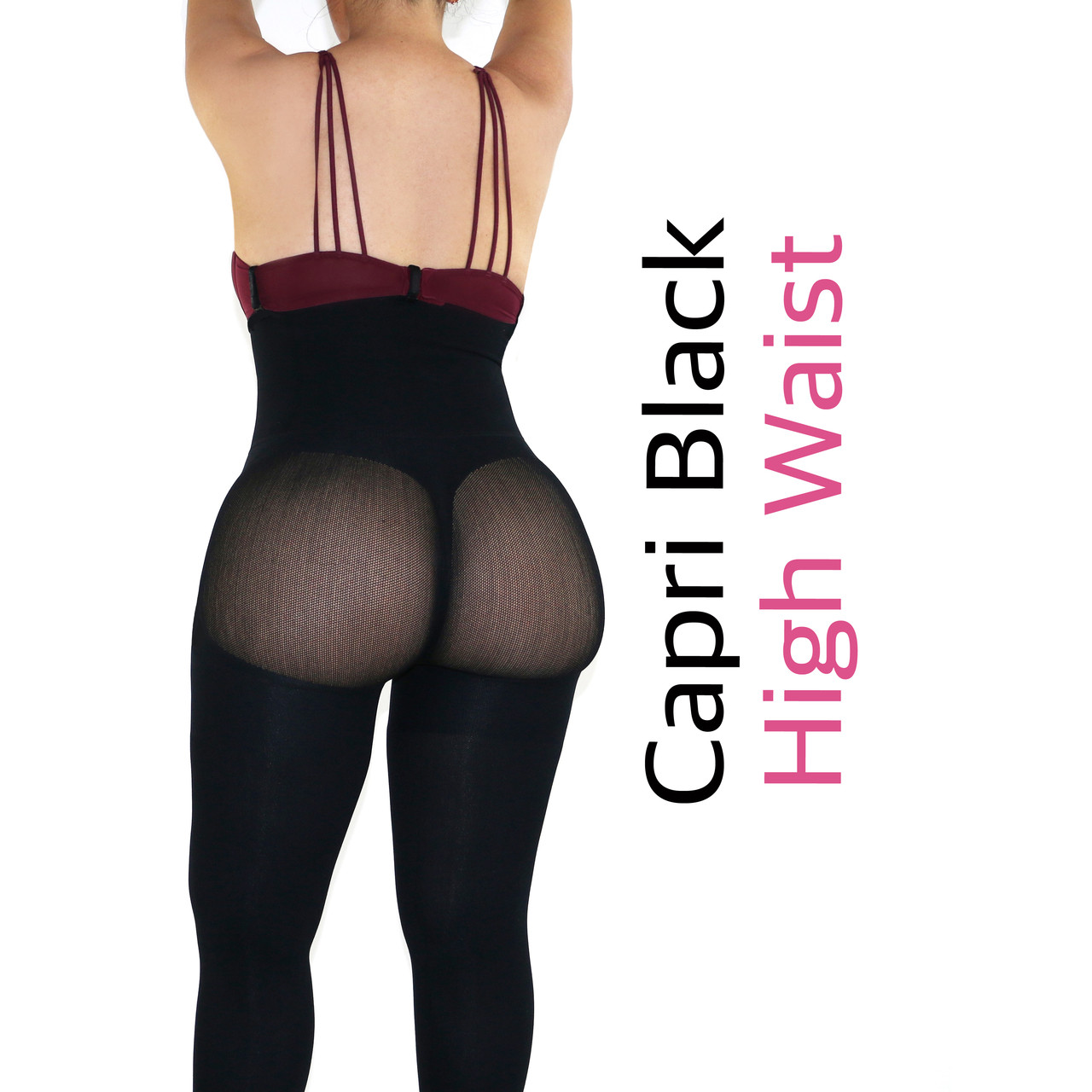 9052b95e950f5 Capri Happy Butt No.7 - Double Layer Waistband Body Shaper Black ...