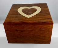 Heart Engraved Wooden Urn - up to 12kgs