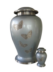 Teal Butterfly Urn Large