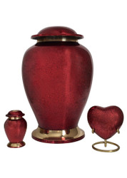 Red Cremation Urn