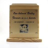 2 Paw Wooden Urn - up to 50kgs