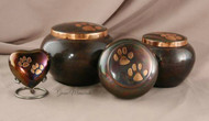 Odyssey Raku/Copper Double Paw Urn - X Large