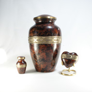 Classic Brown Patina Cremation Urn