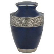 Broadband Blue Cremation Urn