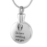 Angel Wings - Watching Over You Memorial Pendant