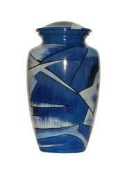 Abstract Blues Cremation Urn