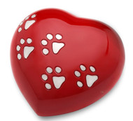Large Red Paw Heart