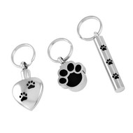 Paw Print Memorial Keyrings