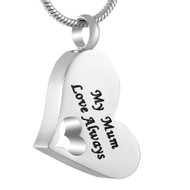 My Mum Love Always Memorial Pendant