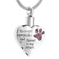 No Longer by my Side - Forever in my Heart Memorial Pendant