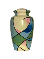Abstract Pastels Cremation Urn