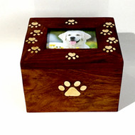 Solid Rosewood Wooden Pet Urn - up to 30 kgs