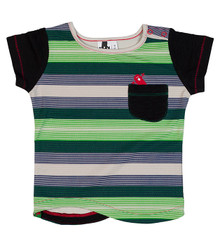Oishi-m Elasto Short Sleeve Tee Pocket Tee (LAST ONE LEFT - SIZE 6-9 MONTHS)