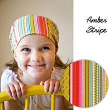 Stefanie's Stitches Head Scarf - Amber Stripes