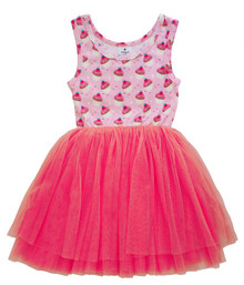 Curious Wonderland - Cupcake Tulle Dress - Pink (LAST ONE LEFT - SIZE 1 YEAR)