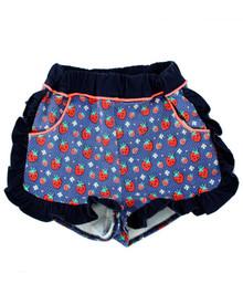Curious Wonderland - Kawaii Strawberry Frill Shorts