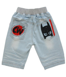 Curious Wonderland - Super Mask Denim Shorts - Blue (LAST ONE LEFT - SIZE 1 YEARS)