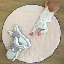 Mister Fly Quilted Reversible Playmat - Pink/Charcoal (OUT OF STOCK)