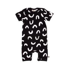Milk & Masuki Short Sleeve Button All - Squiggle (ONLY SIZE NEWBORN LEFT)