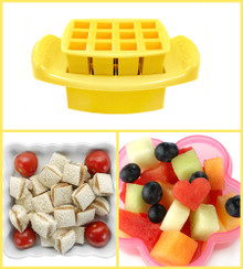 Funbites Squares Yellow - Creates 12 perfect sized squares! (OUT OF STOCK)