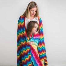 O.B. Designs Giant Ripple Blanket - Rainbow (LAST ONE LEFT!)
