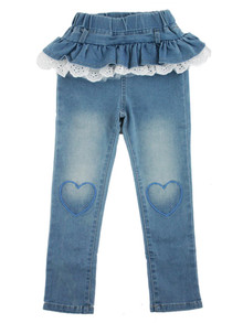 Curious Wonderland - Lace & Frill Denim Jeans