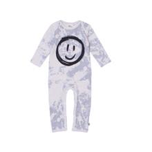 Milk & Masuki Full Body Button All - Splatter Smiley Face (ONLY SIZE NEWBORN & 1 YEAR LEFT)