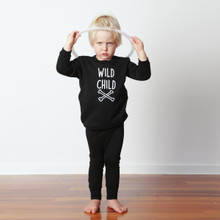 Little Flock of Horrors - Crew Fleecey - Wild Child [FROM $65] (LAST ONE LEFT - SIZE 3-6M)