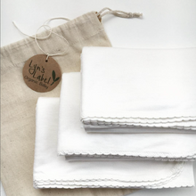 Lyns Label - Pure Organic Bamboo Jersey Swaddles - Scallop Edge