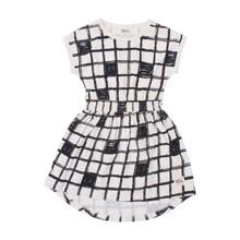 Milk & Masuki Elastic Waist Dress - Checker