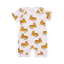 Neon Kite Short Sleeve Button All - Tiger Meterage (LAST ONE LEFT - SIZE 0-3M)