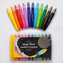 Lunables Magic Waxi Jumbo Gel Crayons (12 Pack)